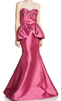 Gustavo Cadile - Silk Peplum Gown