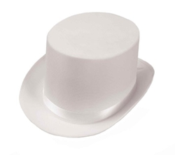 Forum - Ribbon Accents Satin Top Hat