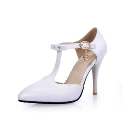Eks - Recei Buckle T-Strap Pumps