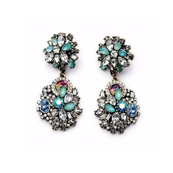 Fun Daisy Earrings - Multi-bead Retro Fashion Earrings