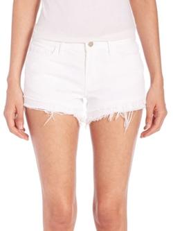 J Brand -  Sachi Distressed Cut-Off Denim Shorts
