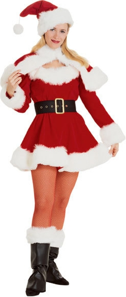 Fantasy Costumes - Deluxe Miss Sexy Santa Suit