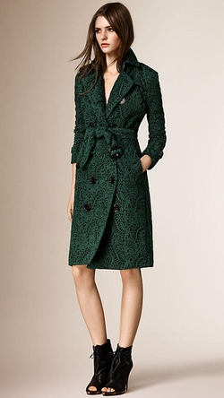 Burberry - Macramé Lace Trench Coat