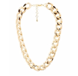 Charlotte Russe - Textured Chunky Chain Necklace