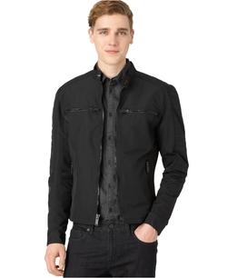 Michael Kors  - Leather-Trimmed Nylon Moto Jacket