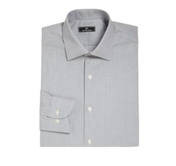 611 Saks Fifth Avenue New York  - Micro Check Dress Shirt