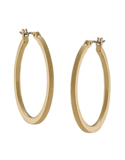 Lauren Ralph Lauren  - Gold-tone Medium Oval Hoop Earrings