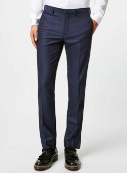 Topman - Crepe Skinny Fit Tuxedo Pants