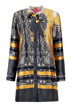Boohoo - Meda Paisley Tie Neck Shirt Dress
