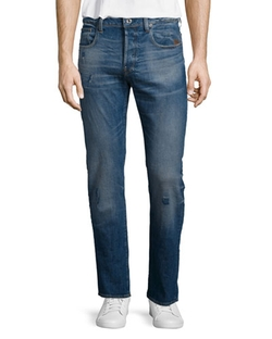 G Star - Defend Straight-Leg Stretch Jeans
