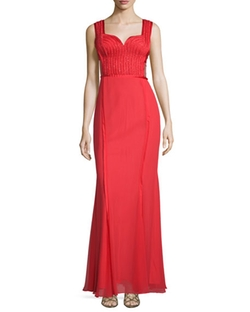 Mignon  - Sweetheart Neck Embellished Gown