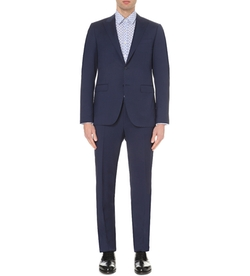 Canali -  Peak Lapel Wool Suit