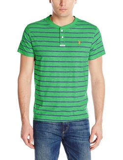 U.S. Polo Assn. - Slim-Fit Stripe Slub Henley T-Shirt