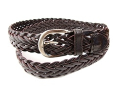 Buckle City - Kids Braided Leather Belt