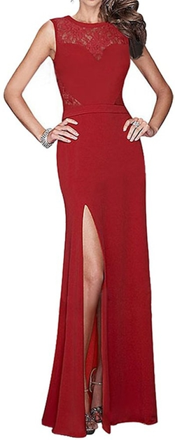 Made2envy - Front Slit Long Evening Dress