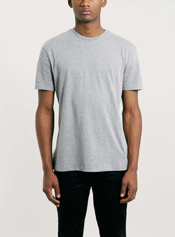 Topman - Grey Crew Neck T-Shirt