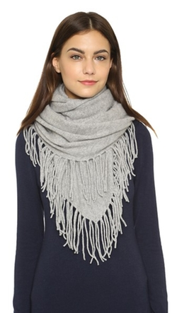 White + Warren - Cashmere Fringe Triangle Scarf