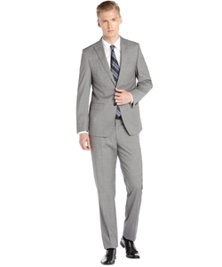 T Tahari - Mini Check Modern Fit Wool Suit