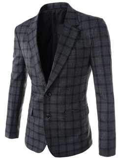 The Lees - Peaked Lapel Plaid Blazer