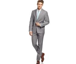 Kenneth Cole Reaction  - Sharkskin Peak Lapel Slim-Fit Suit