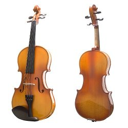 Mendini - Ebony Fitted Solid Wood Violin