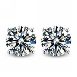 Body Fashion - Surgical Steel Diamond Mens Stud Earrings