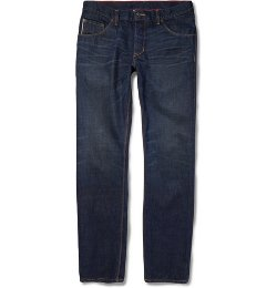 Raleigh Denim   - Slim-fit Jones Washed-Denim Jeans