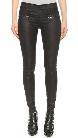 RtA - Hip Zip Leather Jeans