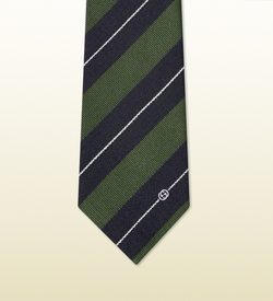 Gucci - Striped Silk Wool Tie