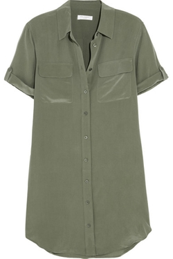 Equipment  - Signature Washed-Silk Shirt Dress