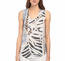 Pierre Balmain - Graphic Print Tank Top