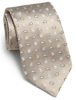 Saks Fifth Avenue Collection - Paisley Print Silk Tie