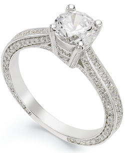 B. Brilliant - Cubic Zirconia Engagement Ring
