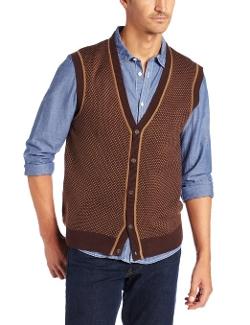 Geoffrey Beene - Button Front Birdseye Vest