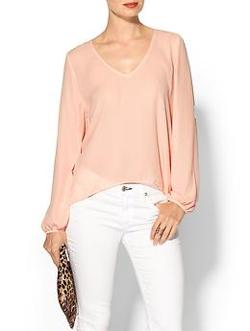 Eight Sixty - Long Sleeve V-Neck Blouse