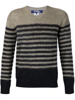 Junya Watanabe Comme Des Garçons Man  - Striped V Neck Sweater