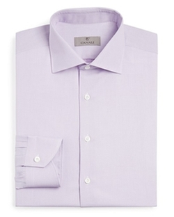 Canali  - Textured Dash Classic Fit Dress Shirt