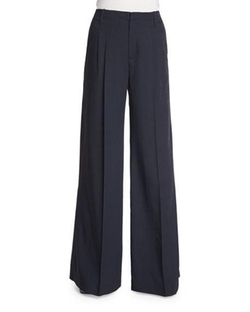 Vince - Wide-Leg Pleated Trousers
