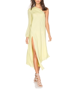 Michelle Mason - One Shoulder Caftan Dress