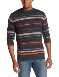 Alex Cannon - Crew-Neck Striped Sweater
