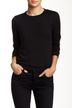Alice + Olivia - Lace Back Shrunken Pullover Sweater