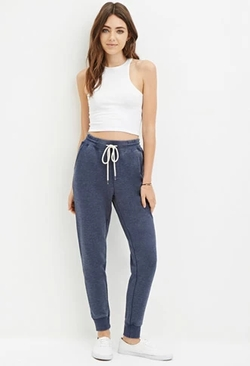 Forever 21 - Heathered Drawstring Sweatpants