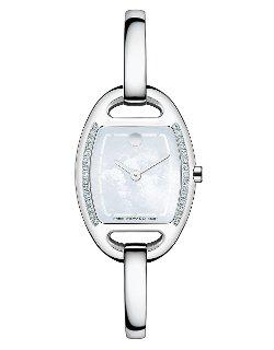 Movado - Miri Silver Tone and Diamond Bangle Watch
