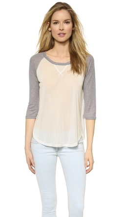 LNA - Baseball Drape Top