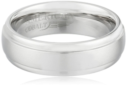 American Cobalt - Domed Satin Center Ring