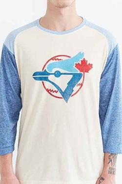 Urban Outfitters - Toronto Blue Jays Triad Raglan Tee Shirt