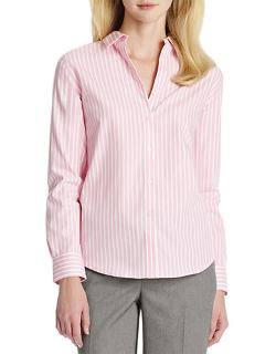 Jones New York  - Striped Button-Down Cotton Shirt