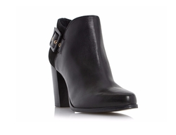 Dune London - Oakley Side Buckle Block Heel Ankle Boots