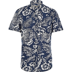 River Island - Hawaiian Print Short Sleeve Shirt