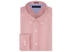 Tommy Hilfiger - Red Bengal Stripe Dress Shirt